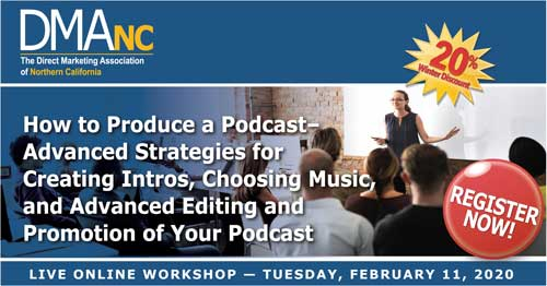 Advanced Podcasting workshop banner image.